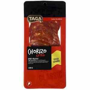 Prøv også Taga classic chorizo.