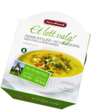 Prøv også Fjordland Indisk kylling- og linsesuppe med chili & koriander.