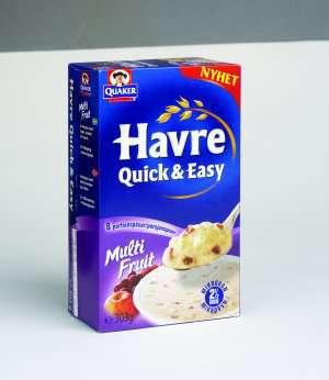 Prøv også Quaker havre quick and easy multi fruit.