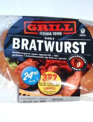 Prøv også Rema Røkt bratwurst.
