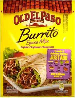 Prøv også Old El Paso Burrito Spice Mix.