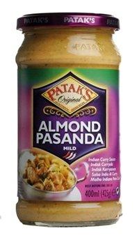 Les mer om Pataks Pasanda Mandel Curry Sauce hos oss.