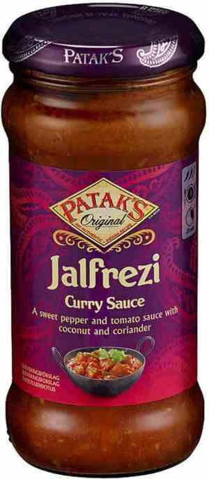 Prøv også Pataks Jalfrezi Sauce.