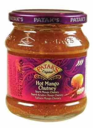 Prøv også Pataks hot mango chutney.