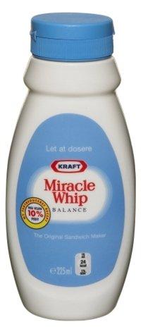 Prøv også Kraft Miracle Whip Balance.