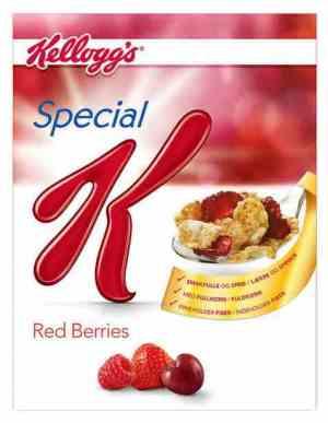 Prøv også Kelloggs special K Red Berries.