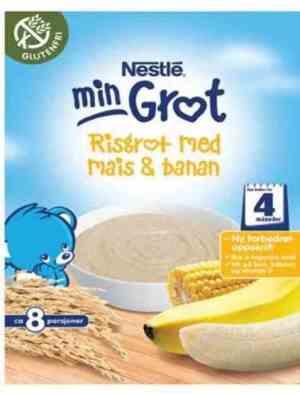 Prøv også Nestle risgrøt banan pulver.