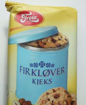 Prøv også Freia firkløverkjeks.