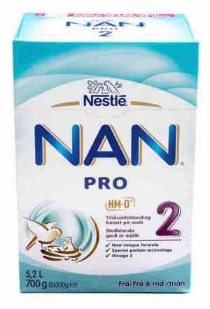 Prøv også Nestle nan 1 pulver.