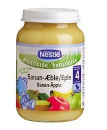 Prøv også Nestle økologisk banan-eple.