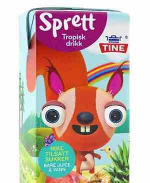 Prøv også Tine sprett tropisk drikk.