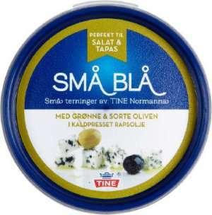 Prøv også Tine Små Blå med grønne og sorte oliven.