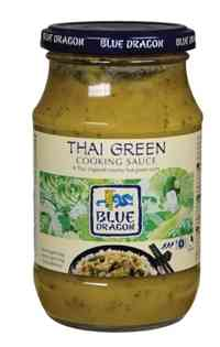 Prøv også Blue Dragon Thai green cooking sauce.