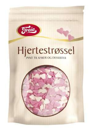 Bilde av Freia sjokoladedekor hjerter.
