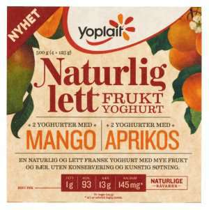 Prøv også Yoplait Naturlig Lett Mango.