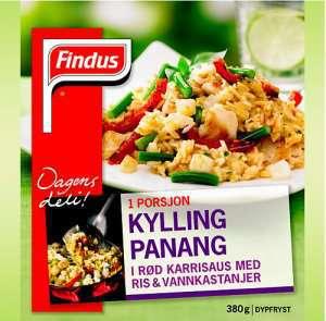 Prøv også Findus Kylling Panang.