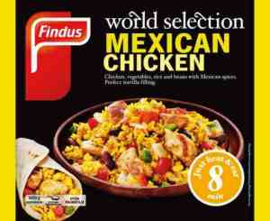 Prøv også Findus Mexican chicken.