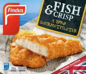Prøv også Findus Fish & Crisp Gourmetfiléer.
