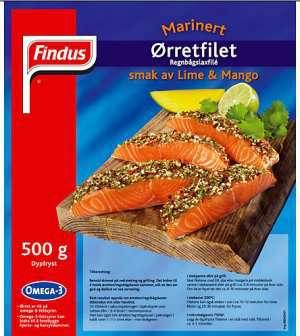 Prøv også Findus Ørrefillet Lime & Mango.
