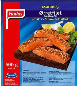 Prøv også Findus Ørrefillet Sitron & Hvitløk.