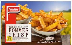 Prøv også Findus Pommes Crisp.