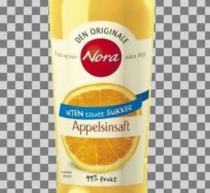 Prøv også Nora uten tilsatt sukker appelsinsaft.