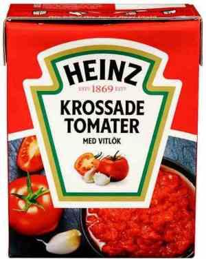 Prøv også Heinz Hakkede Tomater med Hvitløk.