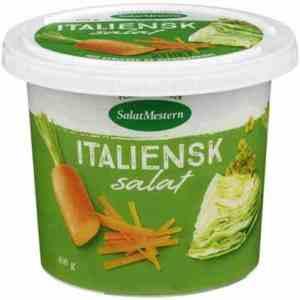 Prøv også Salatmesteren italiensk salat uten kjøtt.