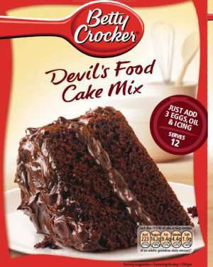 Les mer om Betty Crocker devils food cake mix hos oss.