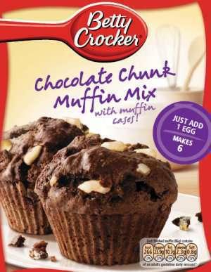 Prøv også Betty Crocker choc chunk mix.