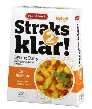 Prøv også Fjordland straks klar kylling curry.
