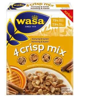 Prøv også Wasa 4 crisp mix honning og kanel.