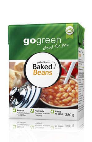 Prøv også Gogreen baked beans.
