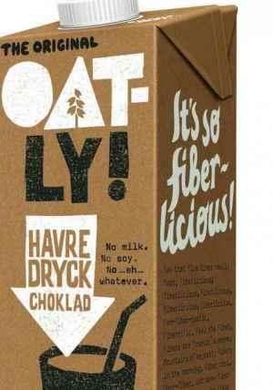 Prøv også Oatly havredrikk sjokolade.
