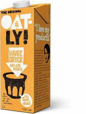 Prøv også Oatly havredrikk med appelsin og mango.