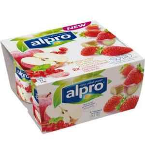 Prøv også Alpro eple med rips og jordbær med rabarbra.