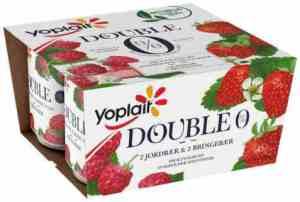 Prøv også Yoplait Dobbel 0% bringebær.