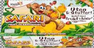 Prøv også Yoplait Safari Banan.
