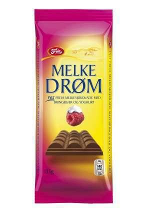 Prøv også Freia Melkedrøm med Yoghurt og Bringebær.