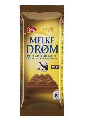 Prøv også Freia Melkedrøm med Kjeks, Krem og Sjokoladesaus.