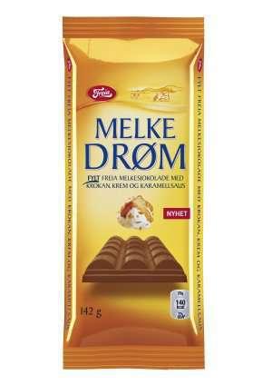 Prøv også Freia Melkedrøm med Krokan, Krem og Karamell.