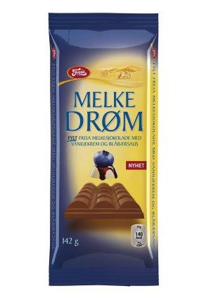 Prøv også Freia Melkedrøm med Vaniljekrem og Blåbærsaus.