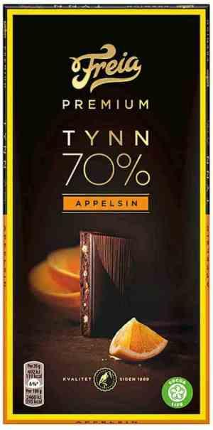 Les mer om Freia Premium 70% Appelsin hos oss.