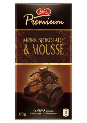 Prøv også Freia Premium Mørk Sjokolade & Mousse.