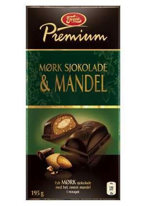Prøv også Freia Premium Mørk Sjokolade & Mandel.