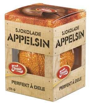 Prøv også Freia Sjokoladeappelsin.
