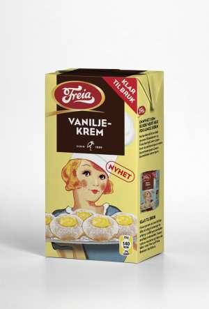 Prøv også Freia vaniljekrem.