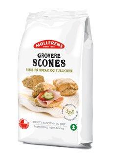 Prøv også Møllerens grovere scones.