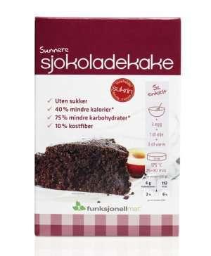 Les mer om Sjokoladekake, 410 g bakemiks hos oss.