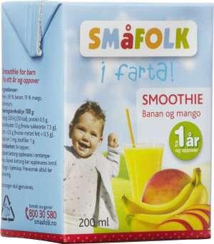 Prøv også Småfolk smoothie banan og mango.